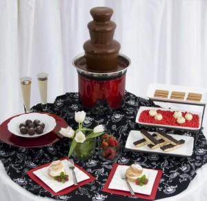 expertas en bodas y eventos, mesa de queso, alquiler de fuentes de chocolat