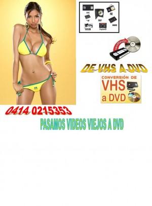 pasamos sus videos viejos a dvd rapidito 04140215353