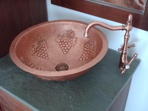 lavaplatos de cobre