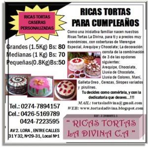 tortas caseras para cumpleaÑos !!! en la ciudad de mérida-vzla